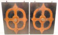 vintage* ZENITH SUPER  RED KNOB Radio:  2 BATTERY DOORS 7 & 5/8 x 5&7/8