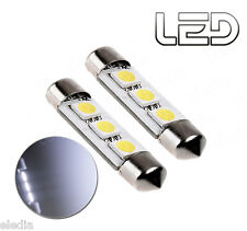 2 Ampoules navette C10W 41 mm 41mm LED resistance Blanc anti erreur ODB
