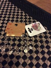 NEW RED HERRING FLORAL RING & NEXT Charm Bracelet NEW