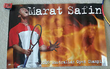 Marat Safin Safinator New Ace Authentic Tennis Poster + Andre Agassi