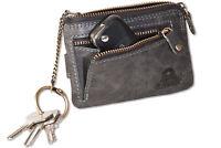 Woodland® Leder Schlüsseltasche mit Kreditkartenfächern und kleinem Geldfach