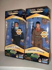 PLAYMATES Star Trek Kirk y Spock un pedazo de la acción sellado de fábrica Alta Gr