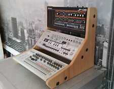 More details for roland boutique oak veneered mdf triple stand from synths and wood