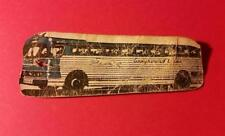 RARE VINTAGE 1940-50's GRAYHOUND BUS LINE BAGGAGE CLAIM CHECK TAG