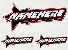 CUSTOM RACING DECALS motorcycle atv team name stickers helmet graphics arai ama