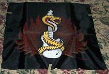 SNAKE & GUITAR Satin Banner Tapestry  Vintage 80s