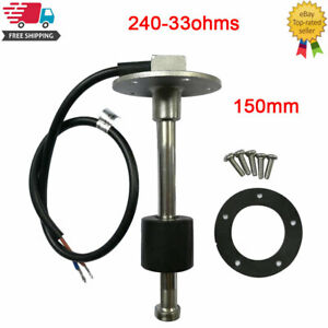 150mm 240-33 ohms Fuel Sending Unit Marine Truck Car RV Water Level Gauge Sensor
