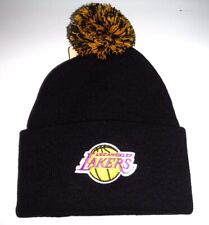 Los Angeles Lakers Authentic  Beanie With Pom toque knit hat NWT Adidas