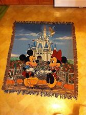 "Walt Disney World Throw Blanket 55""x 50"" - Great Condition"