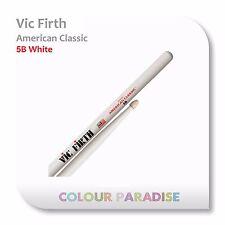 Vic Firth American Classic Wood Tip Drum Sticks 5B White