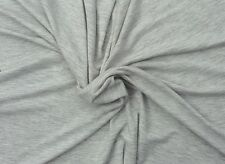 Heather Gray Organic Cotton Fabric 4 Way Stretch Jersey Knit By The Yard 12/16