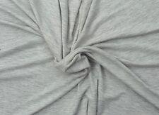 Heather Gray Organic Cotton Fabric 4 Way Stretch  Jersey Knit By The Yard 12/16