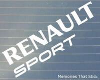 2x Renault Sport Car Window Bumper 4x4 JDM EURO VW DUB Vinyl Decal Sticker