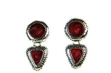 LADIES CHUNKY GOTHIC RETRO DARK COLOURED EARRINGS BRAND NEW UNIQUE (A20)