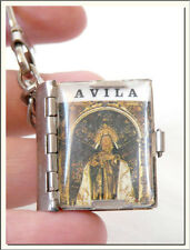 VINTAGE 1960s AVILA - SPAIN 10 PHOTO ALBUM BOOK LOCKET KEY RING ! VISIT MY STORE