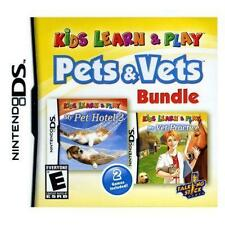 Kids Learn & Play: Pets & Vets Bundle USED SEALED (Nintendo DS, 2012)