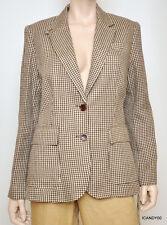 Nwt $290 Ralph Lauren Linen Lined Jacket Blazer Coat Top ~Brown/Cream *10