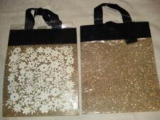 """Hallmark Signature 8 Glitter Gift Bags Gold Black White 7.3/4 x 9 3/4"""""""