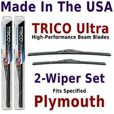 Buy American: TRICO Ultra 2-Wiper Blade Set fits listed Plymouth: 13-19-17