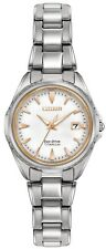 Citizen Eco-Drive Women's EW2410-54A Titanium Rose Gold Accents 28mm Watch