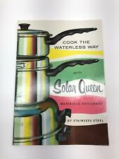 Solar Queen Waterless Cookware Cooking Instructions Manual