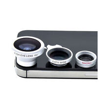 Magnetic 3 in 1 Fish Eye Wide Angle Macro Black Lens For All Type Of Smartphones