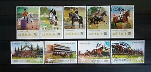 AUSTRALIA - 2014 EQUESTRIAN AND RACECOURSES SETS S/A ON PAPER ***FREE POSTAGE***