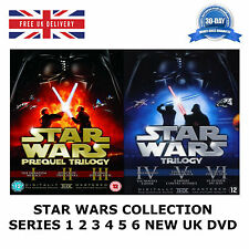 STAR WARS COLLECTION 1-6 SERIES 1 2 3 4 5 6 Theatrical Remastered 12 Disc UK DVD