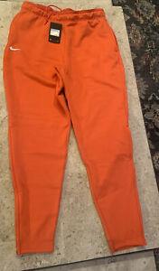 Nike Clemson Team Sideline Heavyweight Fleece Pant Men's M Orange BQ6969-820