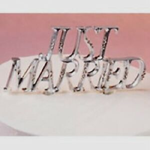 Just Married Silver Wedding Cake Topper Wilton Brand Party Reception