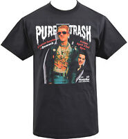 MENS BLACK T-SHIRT CAPTAIN SENSIBLE PURE TRASH DAMNED PUNK ROCK FLYER S-5XL