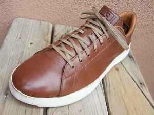 COLE HAAN Mens Casual Dress Brown Leather Tennis Sneaker Sport Shoes Sz Size 8M
