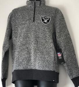 NFL Las Vegas Raiders 1/4 Zip Long Sleeve Shirt Men's Embroidered Logo MSRP:$75