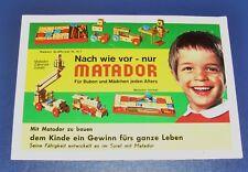 Matador Korbuly div. Folder Werbung Liste 1970er Jahre Baukasten Holzbaukasten
