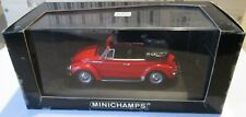 F1 1/43 VW 1303 CABRIOLET 1972-80 RED MINICHAMPS