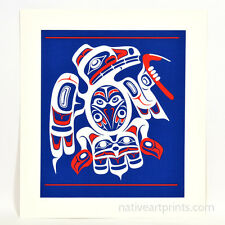 Don Yeomans Raven's Visit 1990 Print Northwest Coast Native Haida Art Signed