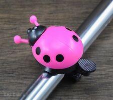 Cute LadyBug Bicycle BELL Cruiser Kids Bike Vintage Schwinn Handlebar Grips Horn