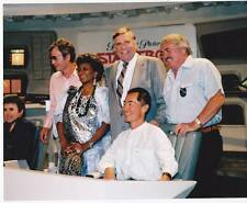 1986 STAR TREK press event 8x10 Gene Roddenberry, DeForest Kelley, George Takei