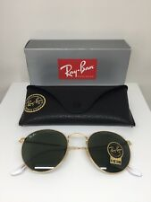New Ray Ban Round Metal RB 3447 Sunglasses C. 001 Arista Gold w/ G15 Lenses 50mm
