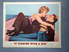 It Started with a Kiss movie lobby card poster Debbie Reynolds 1959