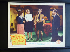 1944 THEY LIVE IN FEAR -EXC COND. LOBBY CARD - HITLER YOUTH - NAZIS - WWII - WAR