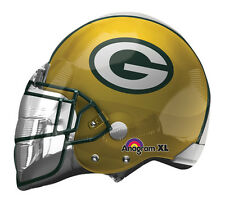 """NFL Green Bay Packers Football Helmet 21"""" Foil Balloon Double Sided 3 Pack"""