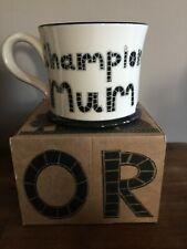 NEW Moorland Pottery Champion Mum Mug - Gift Boxed