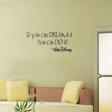 """English Quotes""""If You Can Dream it"""" Removable Vinyl Art Decal Funny Wall Sticker"""