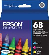 Epson Genuine 68 Black, Cyan, Magenta, Yellow 4-Pack of Ink Cartridges