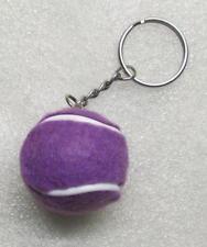 1.25 Inch Purple TENNIS BALL Plush KEY CHAIN Ring Keychain NEW