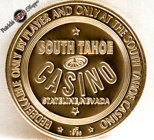 $1 .999 SILVER FULL PROOF SLOT TOKEN SOUTH TAHOE NUGGET CASINO 1965 FM MINT NEW