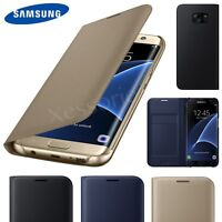 Luxury Genuine Real Leather Flip Case Wallet Cover For Samsung Galaxy S8 S9 S7