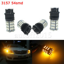 4PCS 3157 54SMD Light Car Parking Bulb Lamp LED 3157A 3457A 4157NA 3456 Amber