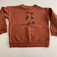 Bobo Choses Boy Girl Unisex Sz 8/9 Rust Star Sweatshirt Top